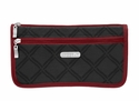 Baggallini Charcoal Link Large Wedge Cosmetic Case