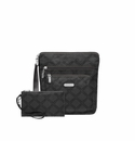Baggallini Charcoal Link Pocket Crossbody With RFID