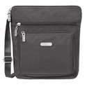 Baggallini Charcoal Pocket Crossbody Bag with RFID Shield