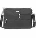 Baggallini Charcoal Tablet Crossbody Bag with RFID Shield