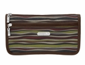 Baggallini Java Stripe Large Wedge Cosmetic Case