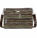 Baggallini Java Stripe Tablet Crossbody Bag With RFID Shield