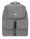 Baggallini Pewter/Cheetah Embossed Mission Backpack