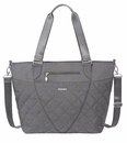 Baggallini Pewterquilt Quilted Avenue Tote With RFID