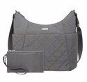 Baggallini Pewterquilt Quilted Hobo Tote With RFID