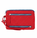 Baggallini Red/Navy RFID Currency & Passport Organizer