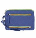 Baggallini Royal Blue/Mint RFID Currency & Passport Organizer
