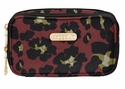 Baggallini Scarlet Cheetah Vienna Cosmetic Case