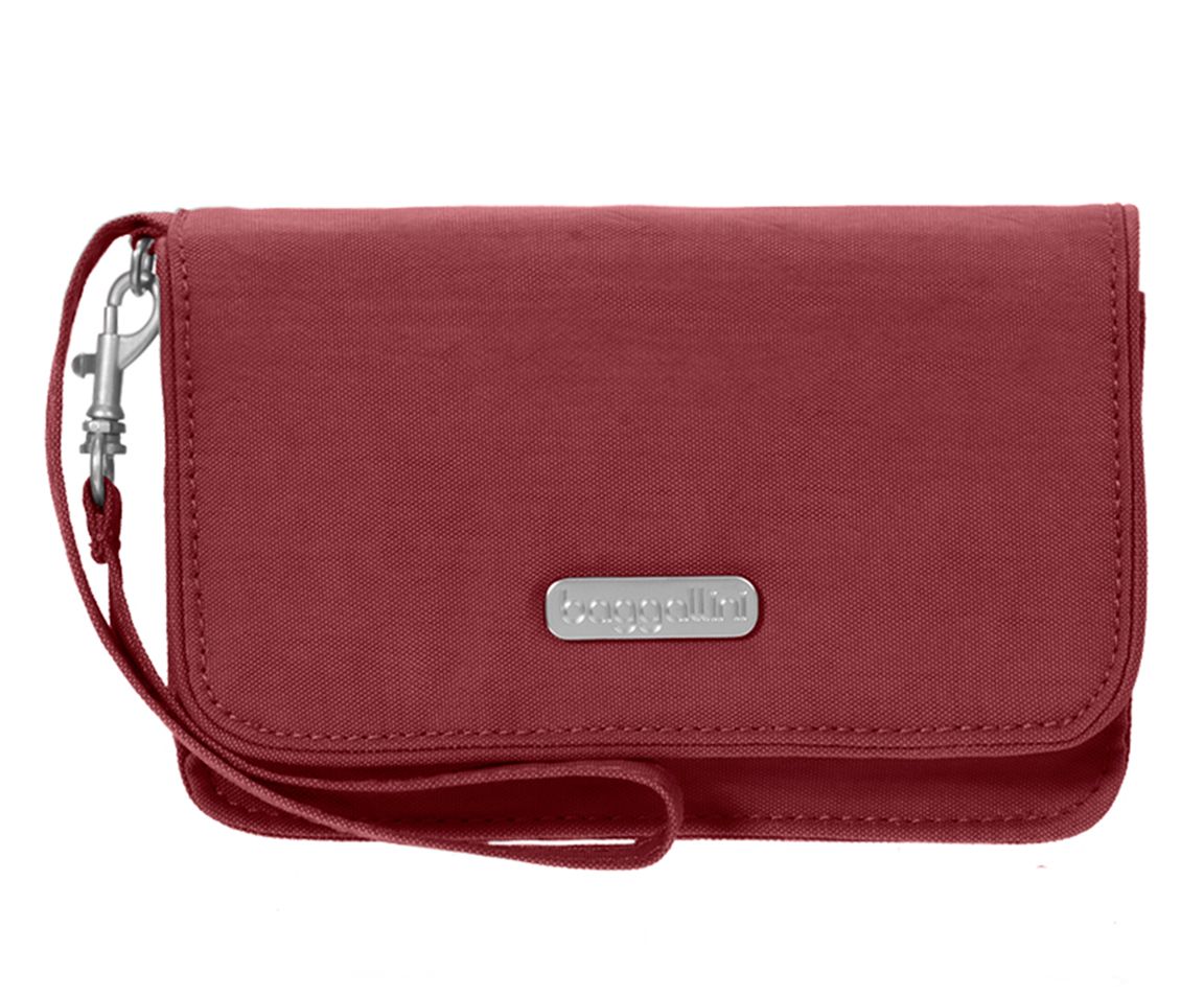 Baggallini Scarlet Flap Wristlet Wallet with RFID Shield ...