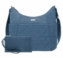 Baggallini Slate Quilt Quilted Hobo Tote With RFID