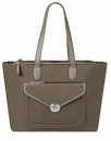 Baggallini Walnut Fairfax Laptop Tote With RFID
