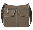 Baggallini Walnut Hillcrest Hobo With RFID