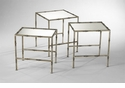Bamboo Bronzed Iron Nesting Tables by Cyan Design