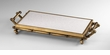 Bamboo Iron and Marble Serving Tray by Cyan Design