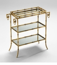 Bamboo Iron Tray Table by Cyan Design
