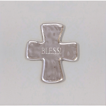 Beatriz Ball Bless Cross Engraved Gift Tray