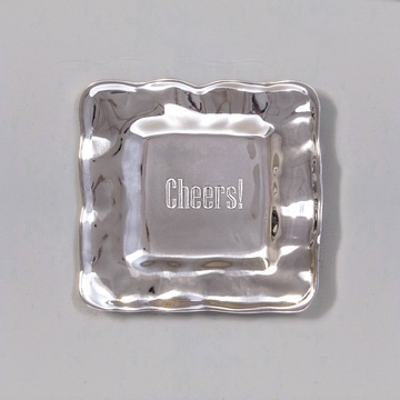 Beatriz Ball Cheers Square Engraved Gift Tray