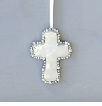 Beatriz Ball Organic Pearl Cross Ornament