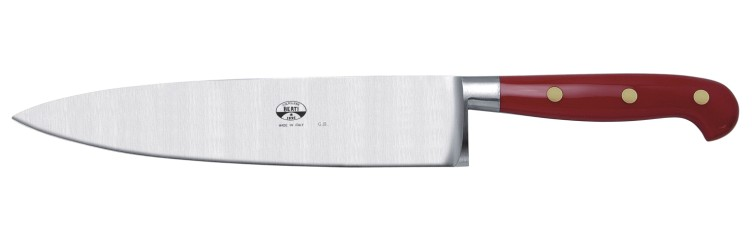 Delicieux Berti Italian Handmade Insieme Chefu0027s Knife With Red Lucite Riveted Handle