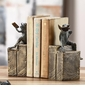 Bibliophile Frogs on Books Bookends by SPI Home
