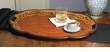 Birch Finish Oval Wood Tray Home Decor