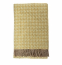 Birchwood Arturo Yellow Houndstooth Merino Wool Throw