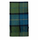 Birchwood Cormullen Green Plaid Lambswool Scarf