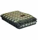 Birchwood Ezcaray Grey & White Mia Merino Wool & Mohair Throw