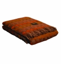 Birchwood Ezcaray Rust & Pink Mia Merino Wool & Mohair Throw