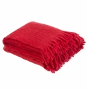 Birchwood Foxford Tomato Mohair Throw