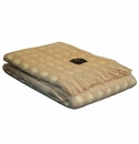 Birchwood Khaki & Cream Mia Merino Wool and Mohair Throw