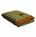 Birchwood Mint & Tan Mia Throw