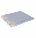 Birchwood Savoir Blue & Beige Linen & Wool Throw