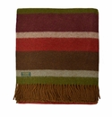 Birchwood Wales Country Stripe New Wool Throw