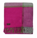 Birchwood Wales Pink/Green/Grey New Wool Throw