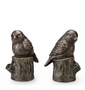 Bird On Stump Bookends by SPI Home
