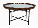 Dessau Home Black And Gold Bamboo Table Stand (Shown With #Aplo19- Sold Seperately) Home Decor