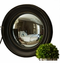 Black and Gold Colonial Convex Mirror Home Decor