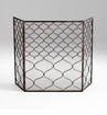 Blakewell Bronzed Iron Firescreen by Cyan Design