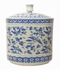 Dessau Home Blue And White Bird Covered Jar Home Decor