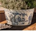 Dessau Home Blue and White Cache Pot Home Decor