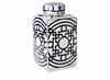 Dessau Home Blue and White Geometric Design Tea Jar Home Decor