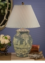 Blue Porcelain Table Lamp (3 Way And 150W ) Home Decor