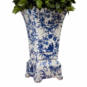 Dessau Home Blue & White Porcelain Planter Vase Home Decor