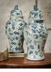 Dessau Home Blue & White Porcelain Temple Jar Home Decor