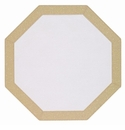Bodrum Bordino Gold Sparkle Octagon Place Mats 6 Pack