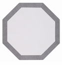 Bodrum Bordino Silver Sparkle Octagon Place Mats 6 Pack