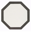 Bodrum Bordino White Charcoal Octagon Place Mats 6 Pack