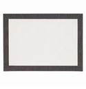 Bodrum Bordino White Charcoal Rectangle Place Mats 6 Pack