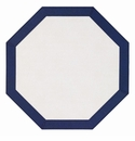 Bodrum Bordino White Navy Octagon Place Mats 6 Pack